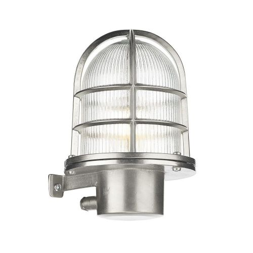 David Hunt Lighting, Pier Caged Nickel Wall Light IP64, PIE1638 (Hand made, 7-10 day Delivery)
